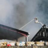 Incendie à Annecy dans l'entreprise de dépôt de déchets Trigénium-Tumbach à Vovray