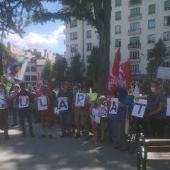 90 citoyens à Annecy en soutien aux «sans-papiers», parias du pays des droits de l'Homme
