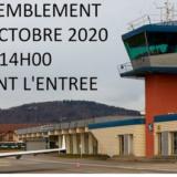 Rassemblement devant l'aérodrome de Meythet ce samedi 3 octobre