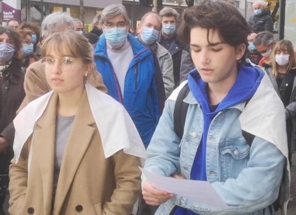 Hommage à Samuel Paty à Annecy : intervention des lycéens