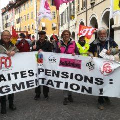 à l'appel de l'intersyndicale des retraités, rassemblement mardi 17 novembre 14h Préfecture Annecy