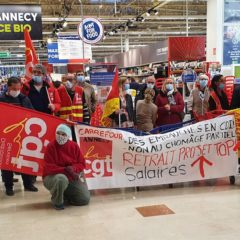 La CGT dénonce le mépris du directeur de carrefour Annecy vis-à-vis de ses salariés