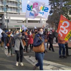 Manifestation des enseignants pour dénoncer le mépris de leur ministre