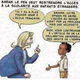 Marine Le Pen veut restreindre l'accès à la scolarité aux enfants étrangers