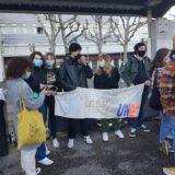 Mathis de l'UNL annonce de nouveaux blocages de lycées en Haute-Savoie le lundi 10 mai