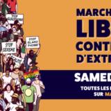 Marche pour les libertés, contre les lois liberticides et les idées d'extrême droite samedi 12 juin