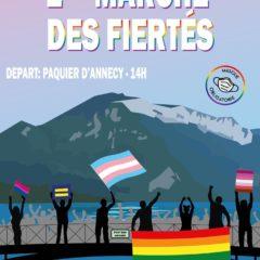 2ème marche des fiertés à Annecy samedi 17 juillet 14h Pâquier