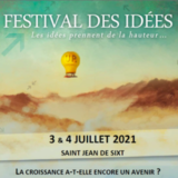 Les 3 et 4 juillet FESTIVAL DES IDÉES à St Jean de Sixt
