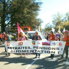 150 retraités dans la rue à Annecy pour dénoncer la politique antisociale du gouvernement